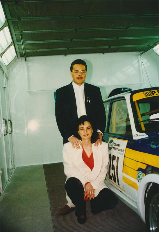 Tanja und Michael Hallauer im Jahr 1997