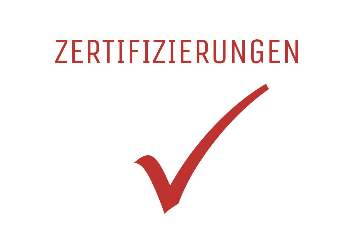 Zertifizierungen