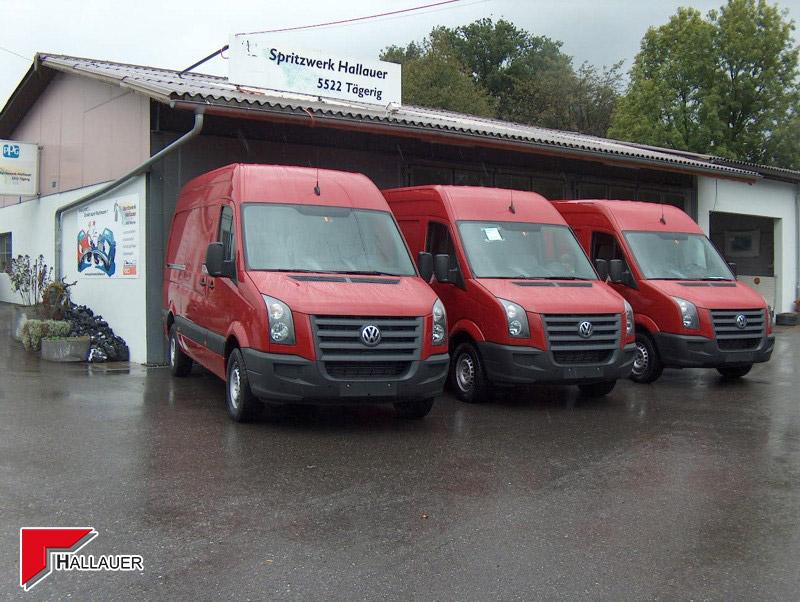 VW Crafter Flotten-Umlackierung