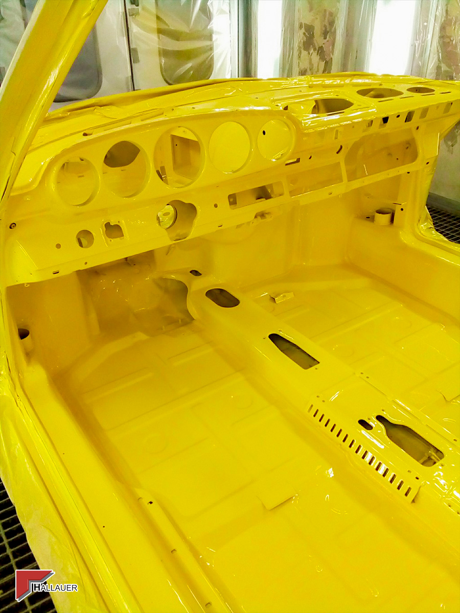 Restauration Porsche 911 gelb