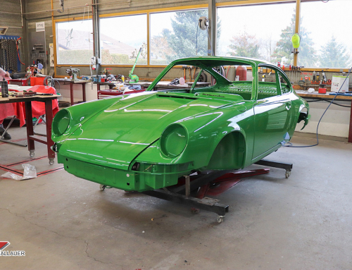 Restauration Porsche 911 grün